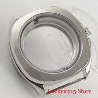 Edelstahl 40mm Platz Uhr Fall mit Sapphire Glas Fit ETA 2836 Automatische Bewegung-in null aus Uhren bei