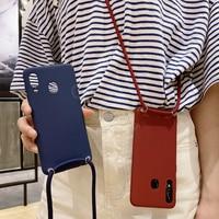 Cover collana per Xiaomi Mi 8 SE 6X A2 5X A1 Mi Max 3 2 Mix 3 2S 2 Note 3 Redmi 5 Plus S2 Y2 custodia Crossbody cordino cinturino Funda