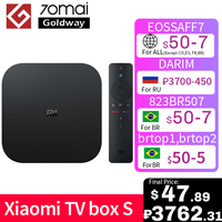 Originale Global Xiaomi Mi TV Box S 4K HDR Android TV 8.1 Ultra HD 2G 8G WIFI Google Cast Netflix IPTV Set top Box 4 Media Player
