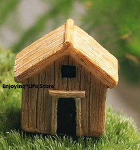 Home Decoration Mini Simulation Wooden Small House Small House Moss Micro Landscape DIY Decoration Material Decoration 10pcs set wooden mini round photo frame hanging crafts diy handmade with ropes home decoration ornament
