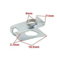 KA LI Car vehicle 6mm hole fixed U-type gasket Metal fastener Nut retainer clips
