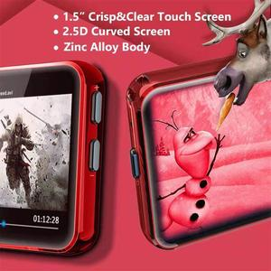 Image 2 - חדש BENJIE Bluetooth MP3 נגן מוסיקה נגן מגע מסך HiFi מתכת נגן עם FM רדיו, קול שיא מיני ווקמן ספורט