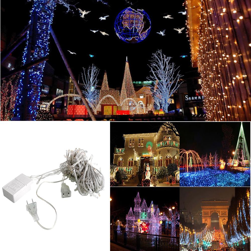 10M 100 LED Bright Charming Fairy String Light Party Decor Waterproof Lamp 110V
