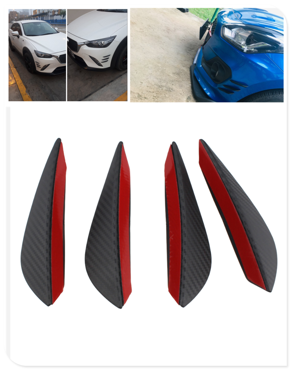Car Modification Styling Air Knife Small Surrounded Front Bumper Spoiler For Kia Forte Ceed Stonic Stinger Rio Picanto Niro