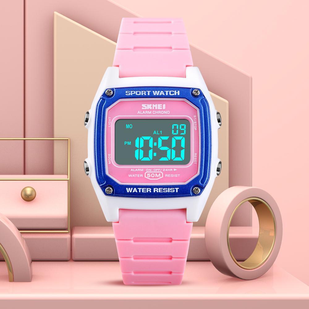 SKMEI Digital Watch Fashion Sport Kids For Girls Watches Week Display Boys Electronic Wristwatch Back Light Children Alarm Clock
