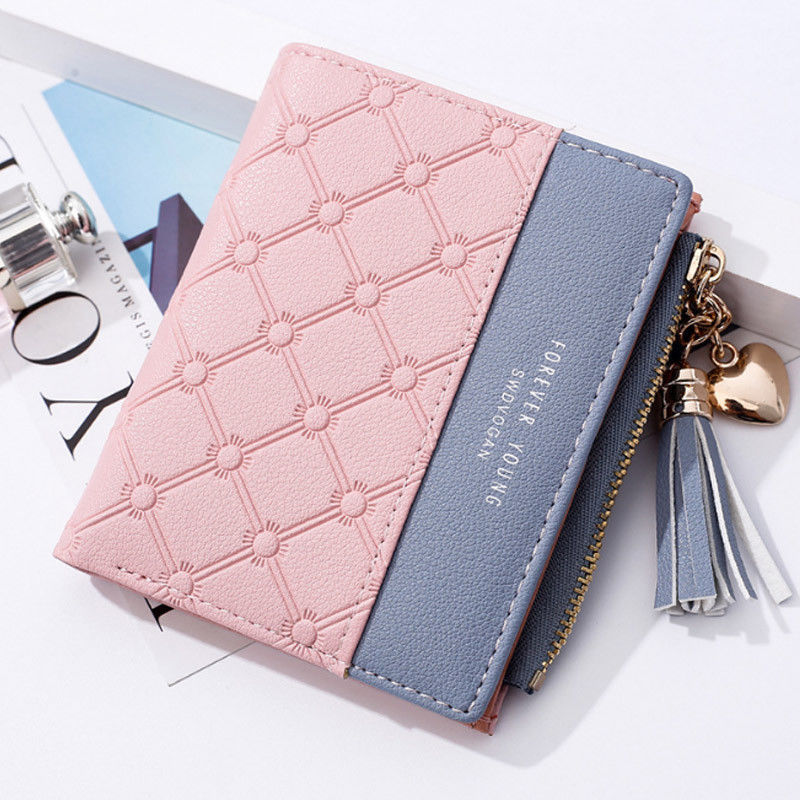 Brand New Style Women Girls Fashion Small Mini Leather Wallet Card Holder Coin Purse Clutch Handbag