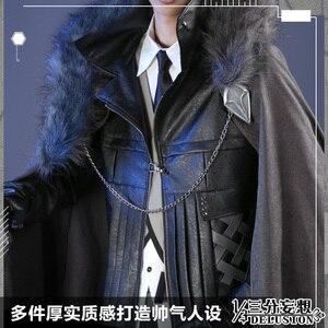 Image 3 - Anime! Arknights SilverAsh Spiel Hübscher Gothic Leder Uniform Cosplay Kostüm Full Set Halloween Anzug Für Männer Freies Verschiffen