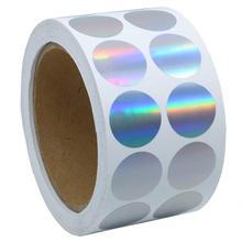 """Серебряный цвет кодирования точек   крошечные голографические круглые точечные наклейки   """" этикетки- всего 1000 в рулоне"""
