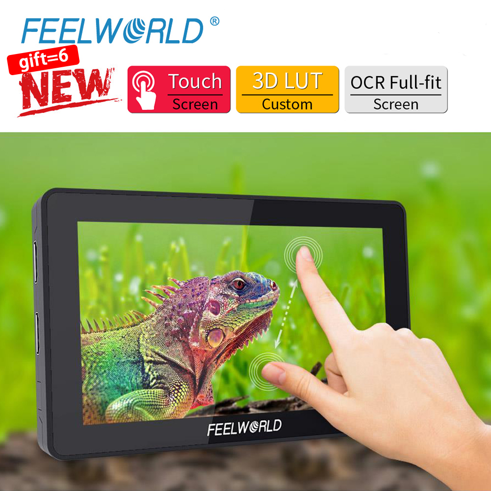 FEELWORLD F6 PLUS 4K Monitor 5.5 Inch on Camera DSLR 3D LUT Touch Screen <font><b>IPS</b></font> FHD <font><b>1920x1080</b></font> Video 4K <font><b>HDMI</b></font> Field Monitor dslr image