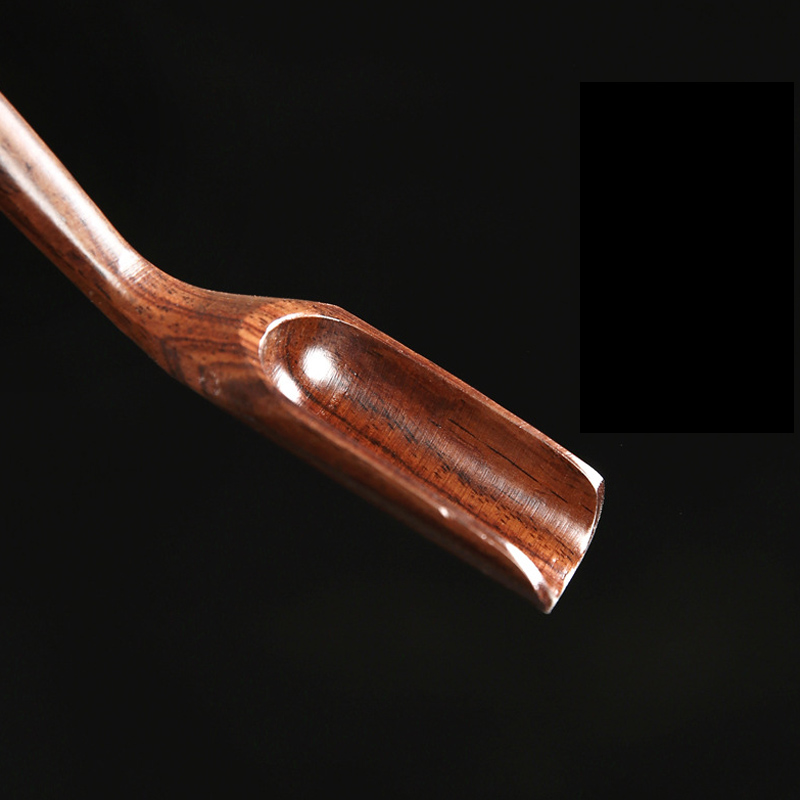 1 шт. портативная в китайском ретро-стиле деликатная Ложка деревянная бамбуковая натуральная чайная ложка аксессуары для чая