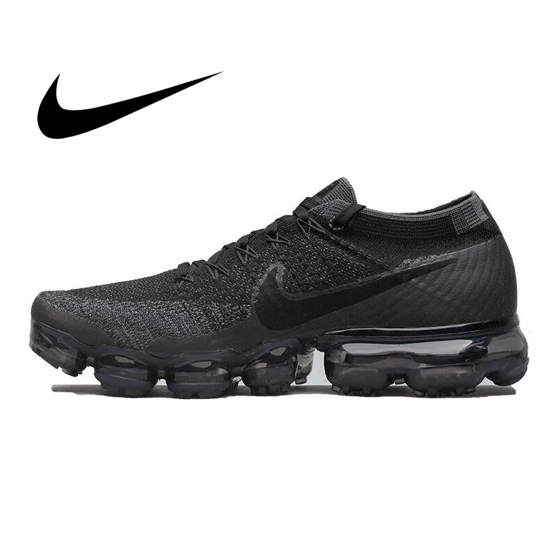 Original Nike Air VaporMax Flyknit Breathable Men's Running Shoes Sports Outdoor Comfortable Lightweight Jogging Sneakers 849558