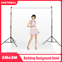 2x3M / 6.5x10ft Studio Studio Background Cloth Stand Set with Portable Tote Bag Suitable for Model Object Shooting