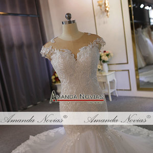 Image 3 - New model special lace full beading wedding dress mermaid wedding gown real work