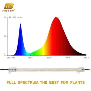 Image 5 - 5 قطعة/الوحدة SMD2835 LED أنبوب 220 فولت 72 المصابيح واضح قذيفة حليبي الأبيض قذيفة 30 سنتيمتر 50 سنتيمتر الباردة الدافئة الأبيض تنمو ضوء للإضاءة داخلي