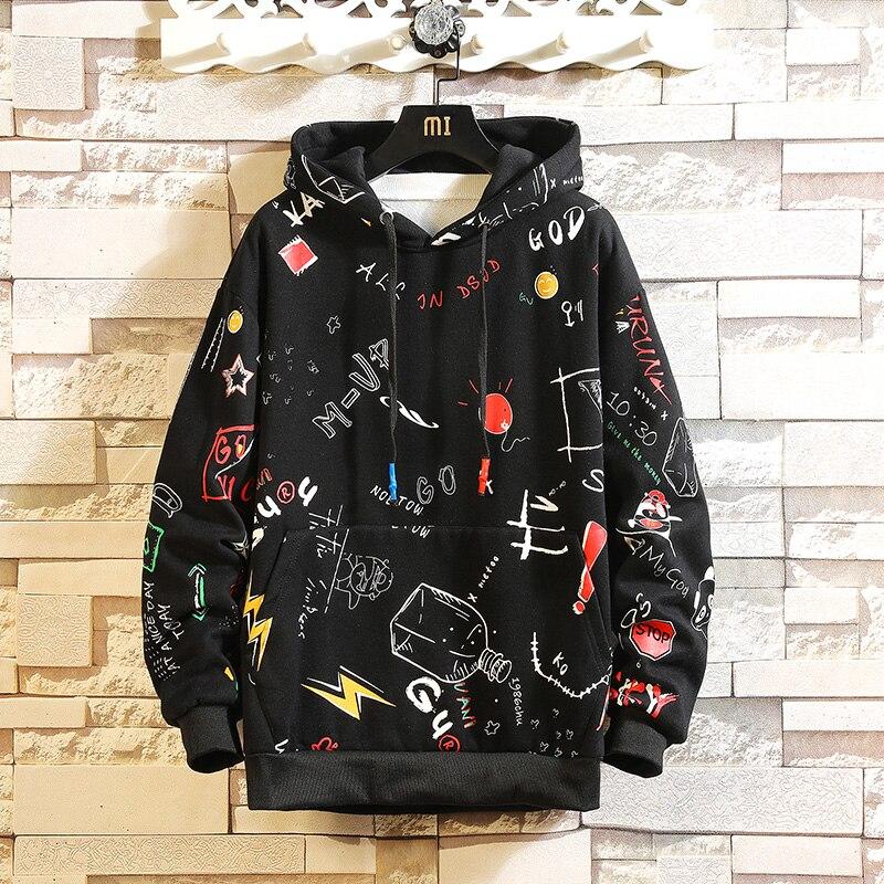 2019 AUTUMN  Spring Fashion High Quality Sweatshirt Men Hip Hop Long Sleeve Pullover Hoodies Sweatshirt Clothes