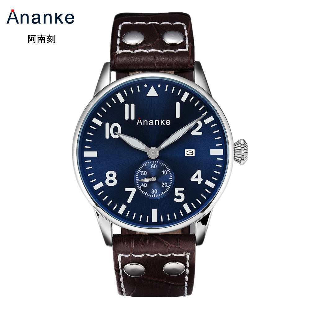 Hot Selling Ananke MEN'S Watch Business Casual Leather Belt Non-Machinery Quartz Watch