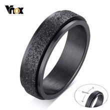 Vnox Punk Spinner Double couches anneaux pour hommes 6MM sablage acier inoxydable ensembles nuptiaux doigt anel cadeaux pour lui