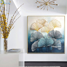 Abstract Ginkgo Leaf Diy 5D Diamond Painting Full Drill Cross Stitch Natural Scenery Embroidery Mosaic Modern Art Decor Poster