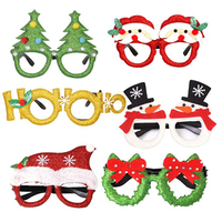 Christmas Glasses Frames Adult Children's Toys Christmas Gift Christmas Not Shining Glasses Girls Boys Accessories Decoration