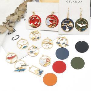 Fashion 2-6pcs Fancy Enamel Charms Alloy Metal Vintage Pendants For Bracelet Earrings Necklace Jewelry Making DIY Accessories