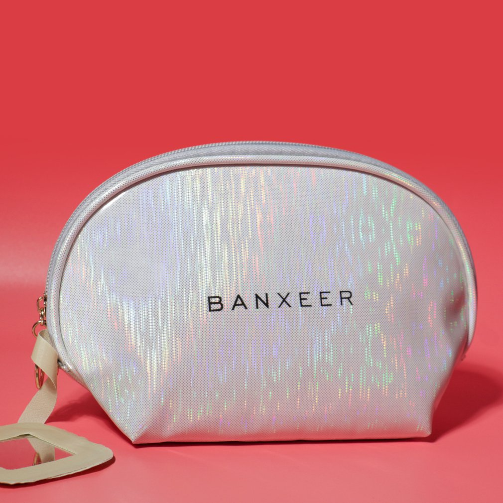 Fashion Makeup Storage Bag Silver Bc-12tzd Cosmetic Bag Non-toxic Waterproof Easy Clean Dry Cosmetic Bag