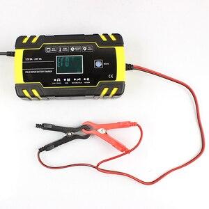 Image 3 - Cargador de batería automático para coche cargador de batería de ácido de plomo seco y húmedo, con pantalla LCD Digital, 12V 24V, 8A