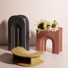 Nordic Art Geometric Vase Home Decor Ceramic Vases Creative Room decoration Desktop Ornaments Christmas Gift