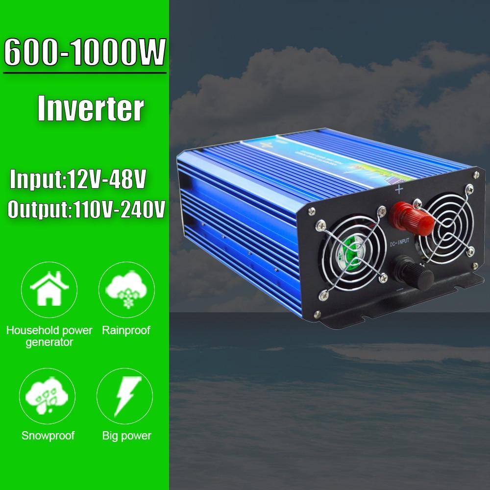 600w 800w 1kw fora da grade inversor de onda senoidal pura para o sistema de vento