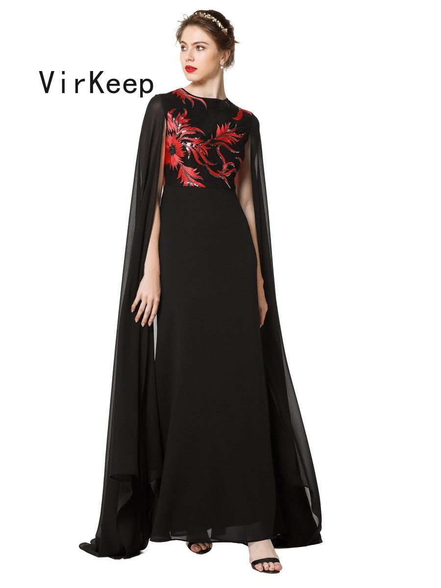 women Floral sequined evening party dress fashion chiffon robe Islamic Dubai gown Arab Moroccan Fashion muslim Abaya VKDR2488 5