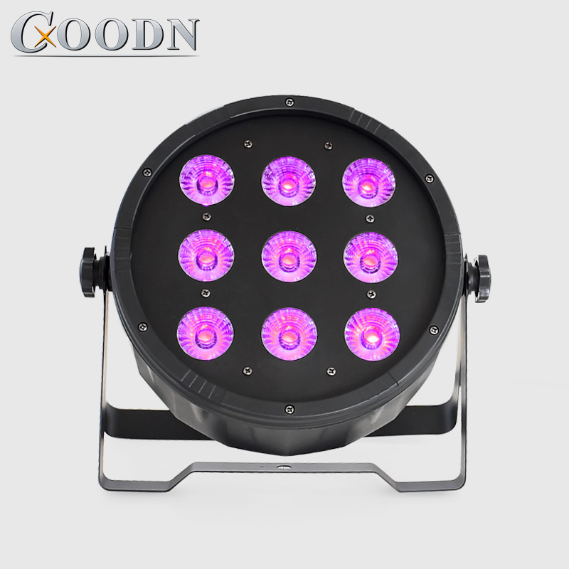 La lumière de lavage menée par rgbw 9x12W de lavage de dmx a mené les lumières plates de dj d'équipement de disco d'équipement de dj