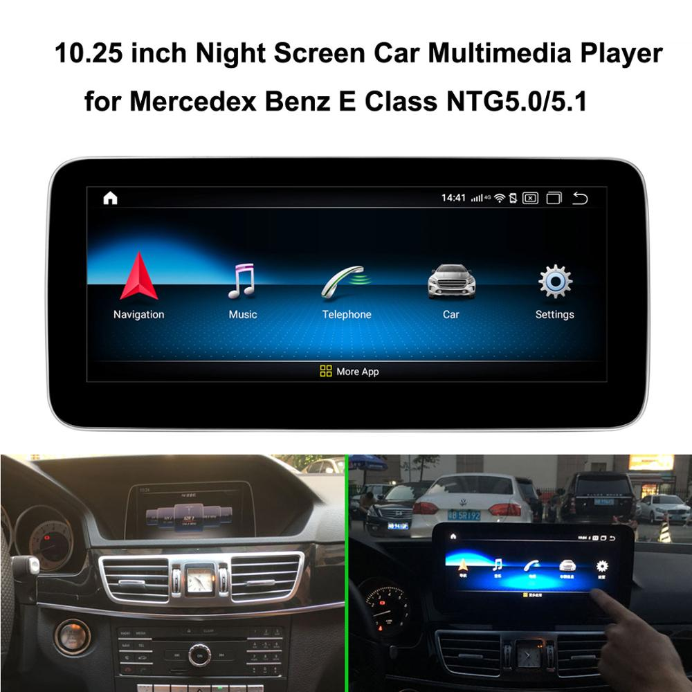 10.25 inch Car Multimedia Player for Mercedes <font><b>Benz</b></font> E class <font><b>W212</b></font> E260L (NTG5.0 2015-2016) Car GPS Navigation <font><b>Android</b></font> 9.0 image