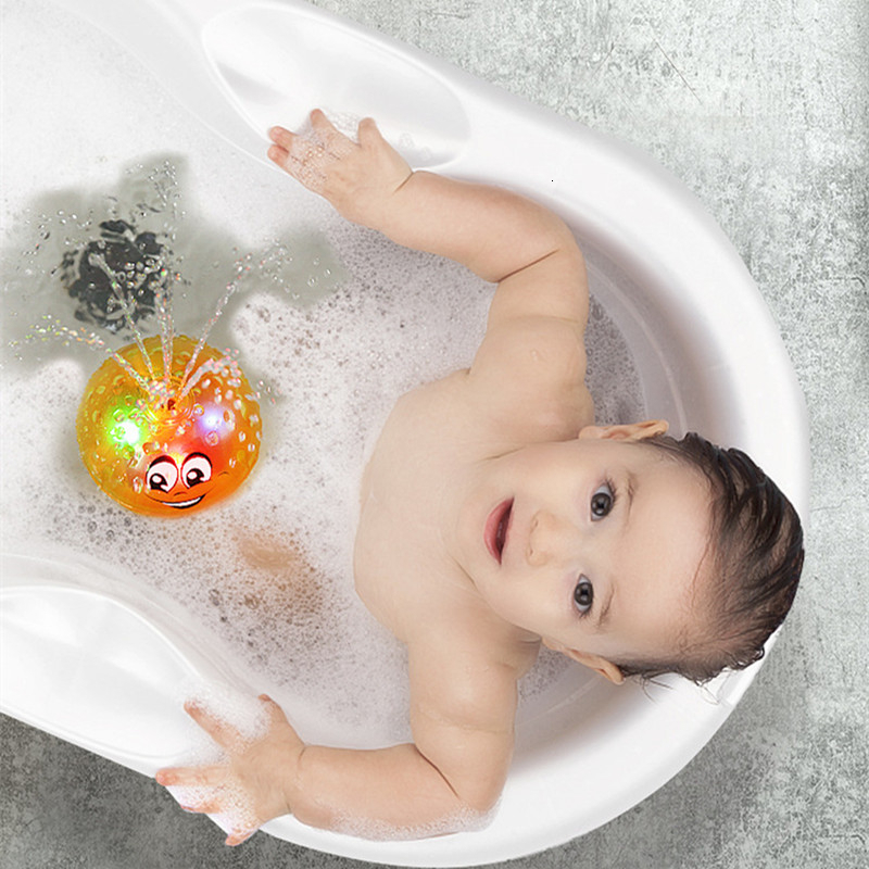 Hot Bath Toys Spray <font><b>Water</b></font> <font><b>Light</b></font> Rotate With Shower <font><b>Pool</b></font> Kids Toy For Children Toddler Swimming Party Bathroom LED <font><b>Light</b></font> Toys image