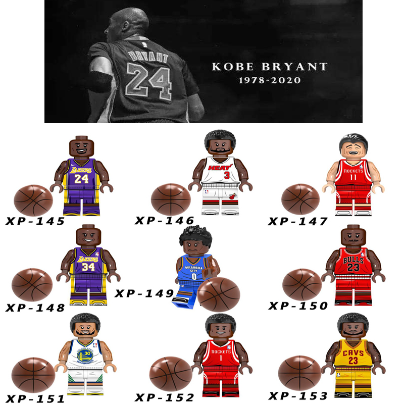 Single Sale American Professional Basketball Player  Kobe Bryant LeBron James Stephen Curry Building Blocks Bricks Toys