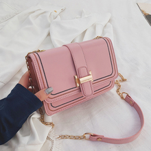 Luxury Shoulder Bags Women Fashion Designer Sewing Thread Crossbody For 2019 New Black Pink Messenger Girl