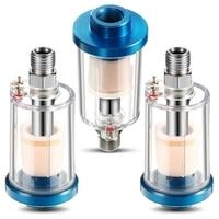 3 Pieces Water Oil Separator Filter Airbrush Filter Moisture Separator for Air Line Compressor Fitting  1/4 Inch NPT Inlet and O Öl-Wasser-Trenner Werkzeug -