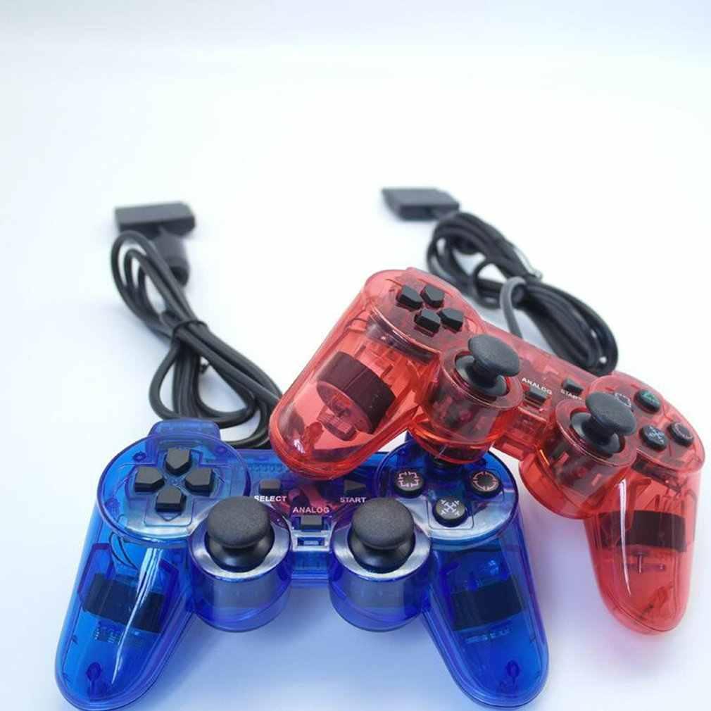 有線コントローラゲームパッドソニー PS2 Playstation2 デュアルショックコンソールビデオゲームジョイスティックゲームパッドコントローラロングケーブルジョイパッドドロップシップ