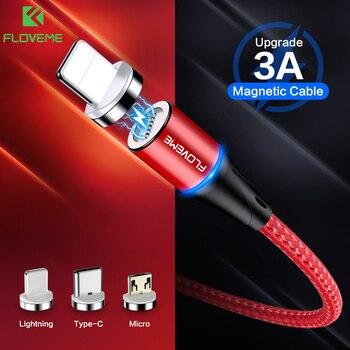 FLOVEME chargeur magnétique Micro Usb câble pour iphone Usb Type C adaptateur de charge rapide aimant chargeur fil pour Samsung Xiaomi cordon 1