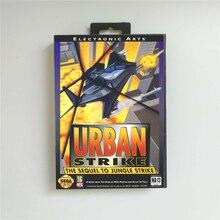 الحضرية سترايك الولايات المتحدة الأمريكية غطاء مع صندوق البيع بالتجزئة 16 بت MD بطاقة الألعاب ل Sega Megadrive نشأة لعبة فيديو وحدة التحكم