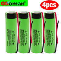 Free Shipping 100% New Original NCR18650B 3.7v 3400 mah 18650 Lithium Rechargeable Battery Flashlight batteries + wire