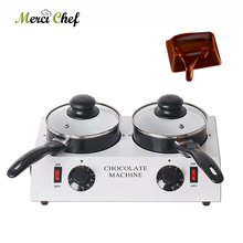ITOP 80W Electric Chocolate Cheese Melting Machine Ceramic Non-Stick Pot Tempering Cylinder Melter (Double Pan)