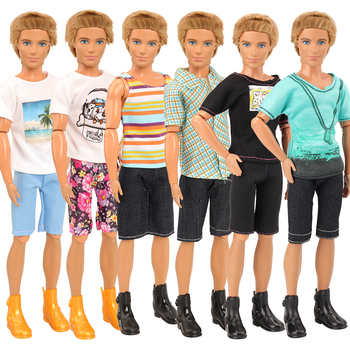 Fashion doll accessories 10 items/set= 6 Ken clothes +4 Doll Shoes For Ken Kids Toys  Clothes For Ken Game DIY Birthday Present ken segall insanely simple