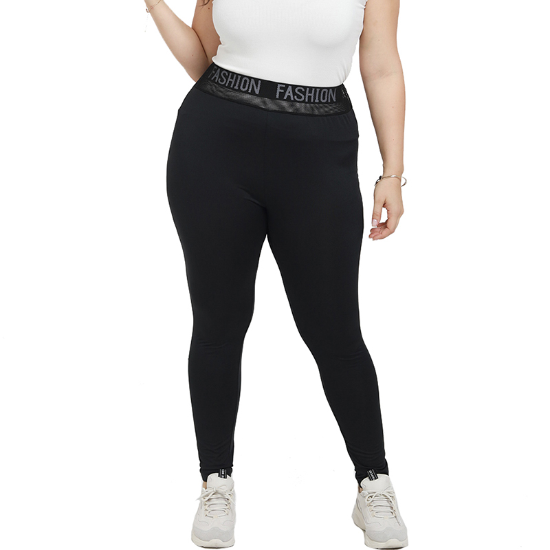 5XL Women Plus Size Casual Legging Winter Lady Solid Black Jeggings Stretchy Fitness Leggings Large Size Running Sport Pant D30