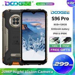 Doogee S96 Pro IP68 Водонепроницаемый прочный смартфон Helio G90 Octa Core 8 ГБ + 128 ГБ инфракрасный Ночное видение 6350 мАч мобильный телефон NFC