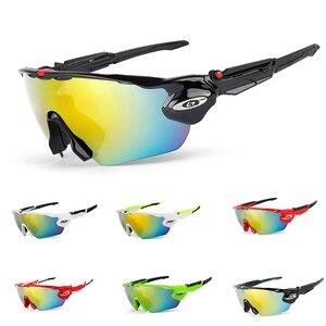Мужские велосипедные очки с 5 линзами, спортивные очки для горного и дорожного велосипеда, уличные очки из поликарбоната UV400, 2019