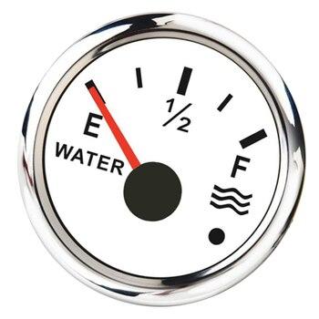 2 inch 52mm Water Level Gauge 0-190 240-33 ohm, Liquid Tank Monitor for Marine Boat Car RV Truck, White marine water level gauge 0 190ohm 240 33ohm stainless steel boat water tank level indicator dail