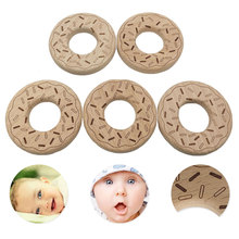 Beech Wood Teether Cartoon Wooden Animal Baby Toy Safe Newborn Kids Teething Toys Chewable Products