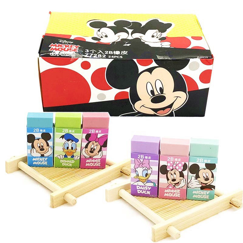 Disney Children Cartoon Eraser Daisy Duck Mickey Minnie Cute Colorful Novelty Erasers Mickey Mouse And Donald Duck Stationery