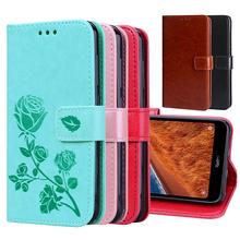 For Meizu C9 Pro Case Flip For Meizu M15 M6S 6T 16XS Case Wallet Leather Phone Cover On Meizu M3 M5S M5C M5 M8 M9 Note 6 Funda cheap VSYTERECO Wallet Case Case and Cover Plain Floral Transparent Dirt-resistant Kickstand With Card Pocket Anti-knock Money Clip