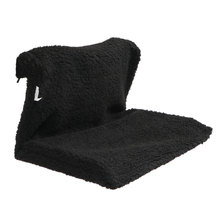 Black Fleece Hanging Iron Frame Pet Bed Cat Kitten Radiator Bed Hammock