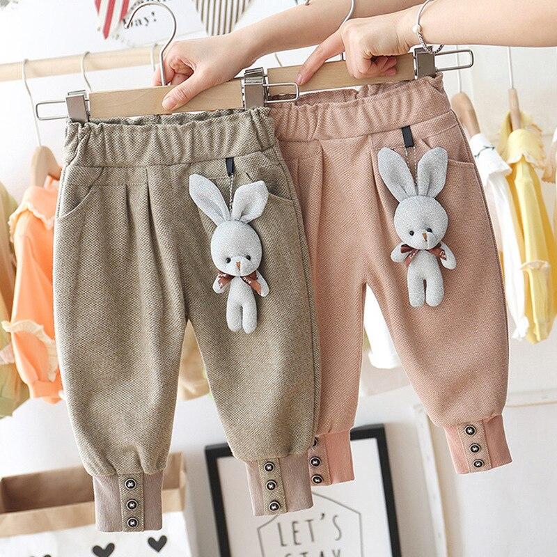 New Baby Girls Cute Cartoon Rabbit Pants baby Trousers Baby Crawler Children Casual Pants kids